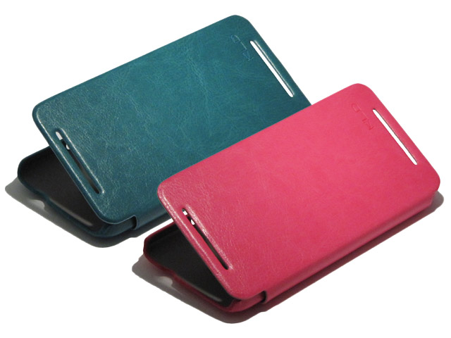 KLD Enland Series Fashion Sideflip Case voor HTC One (M7)