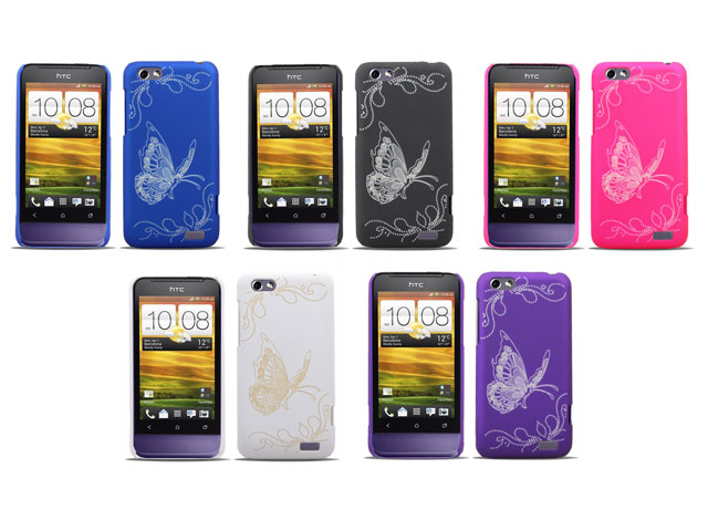 Butterfly Back Case Hoesje voor HTC One V