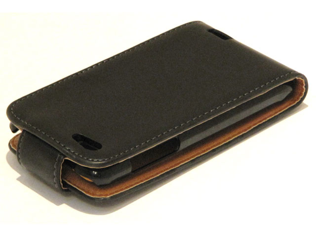 Classic Leather Flip Case voor HTC One V