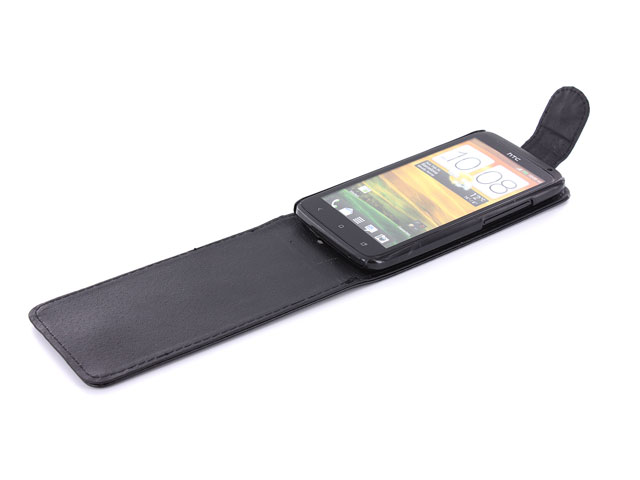 Business Leather Flip Case voor HTC One X