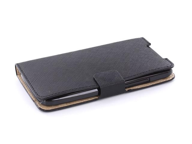 Classic Leather Sideflip Case voor HTC One X
