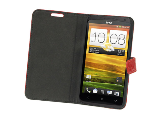 Croco Sideflip Stand Case voor HTC One X