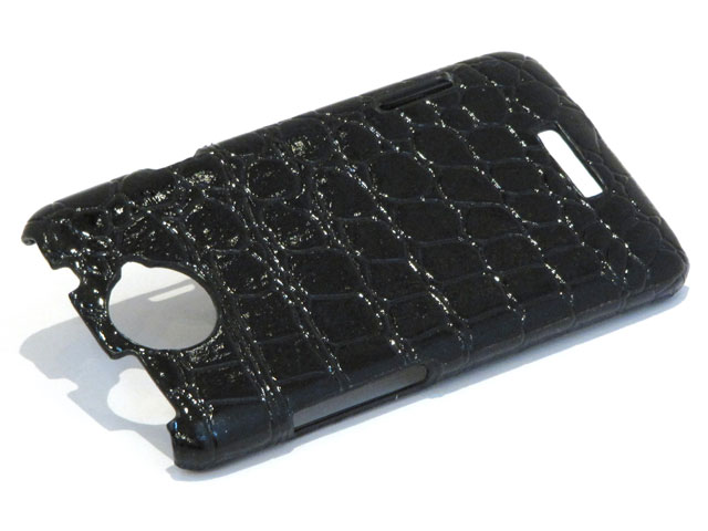 Croco Back Case Hoesje voor HTC One X
