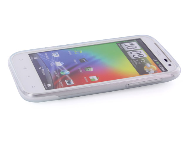 Frosted Polymer TPU Case Hoesje voor HTC Sensation XL