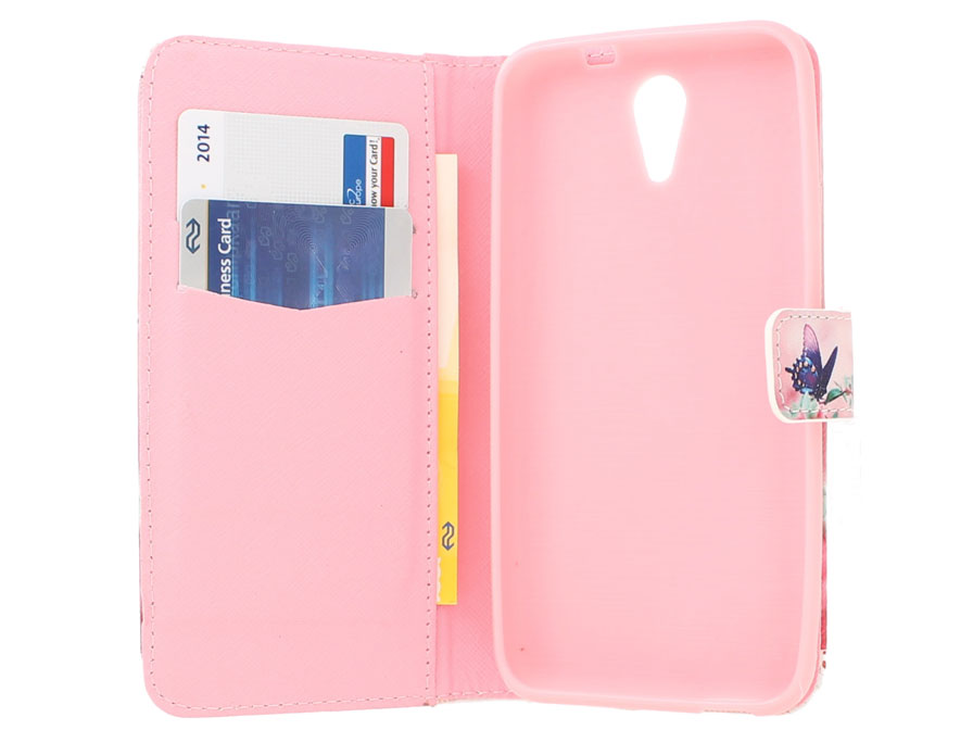 Butterfly Book Case Hoesje voor HTC Desire 620