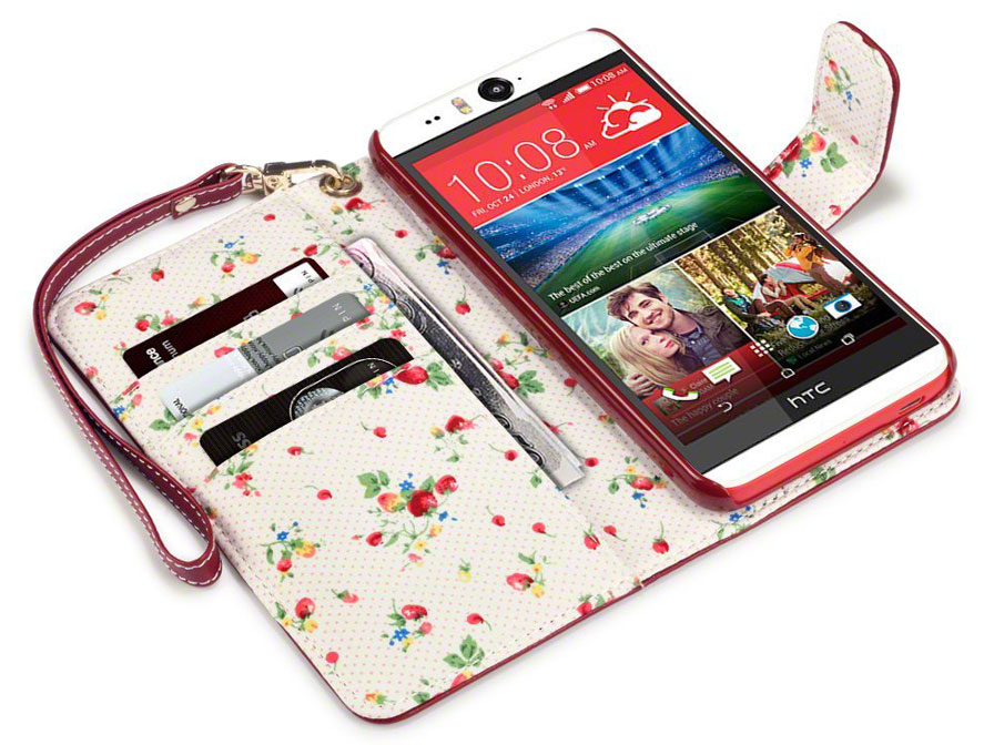 CaseBoutique Flower Wallet Case - HTC Desire Eye hoesje
