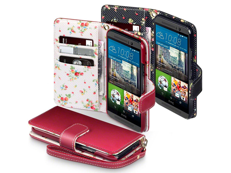 CaseBoutique Flower Wallet Case - Hoesje voor HTC One M9