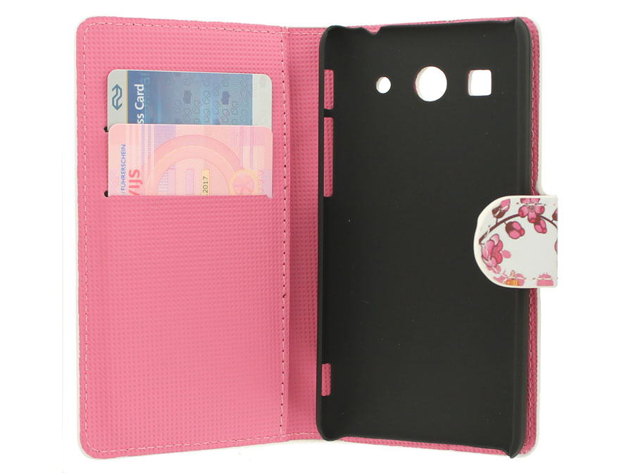 Chinese Blossom Wallet Case voor Huawei Ascend G525