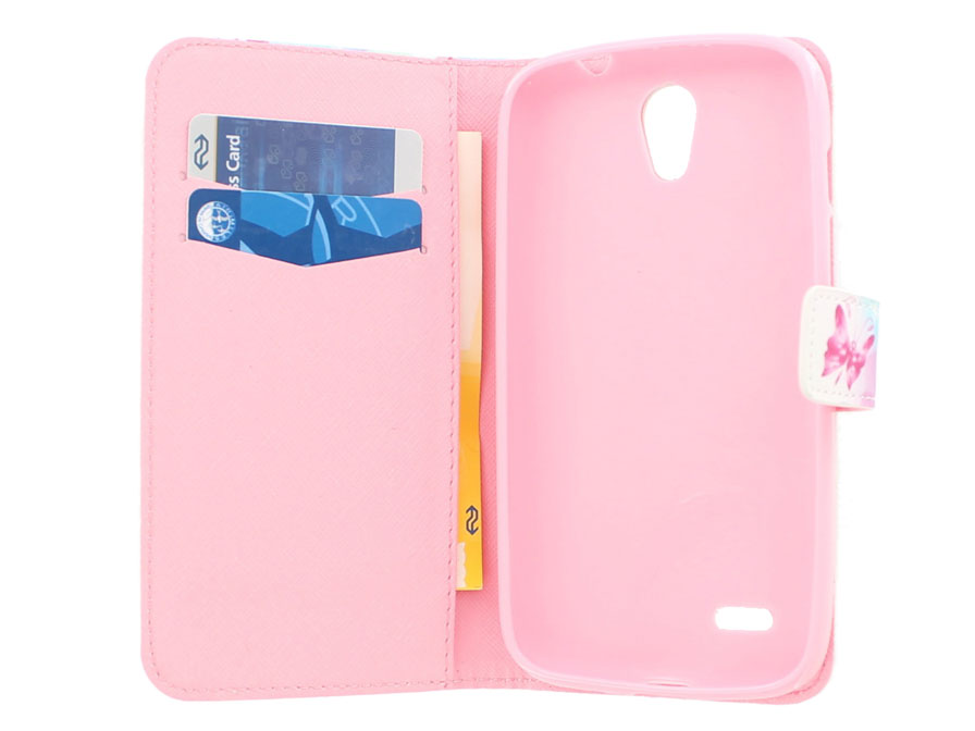 Butterfly Book Case Hoesje voor Huawei Ascend G610