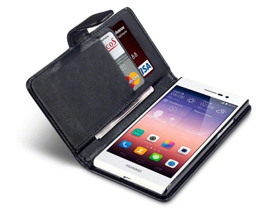 Qubits Wallet Case Hoesje Voor Huawei Ascend P7