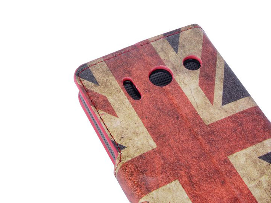 Great Brittain Vintage Wallet Case voor Huawei Ascend Y300