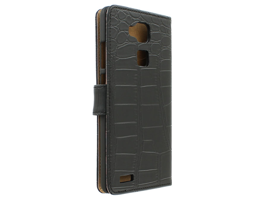 Croco Wallet Case - Huawei Ascend Mate 7 hoesje