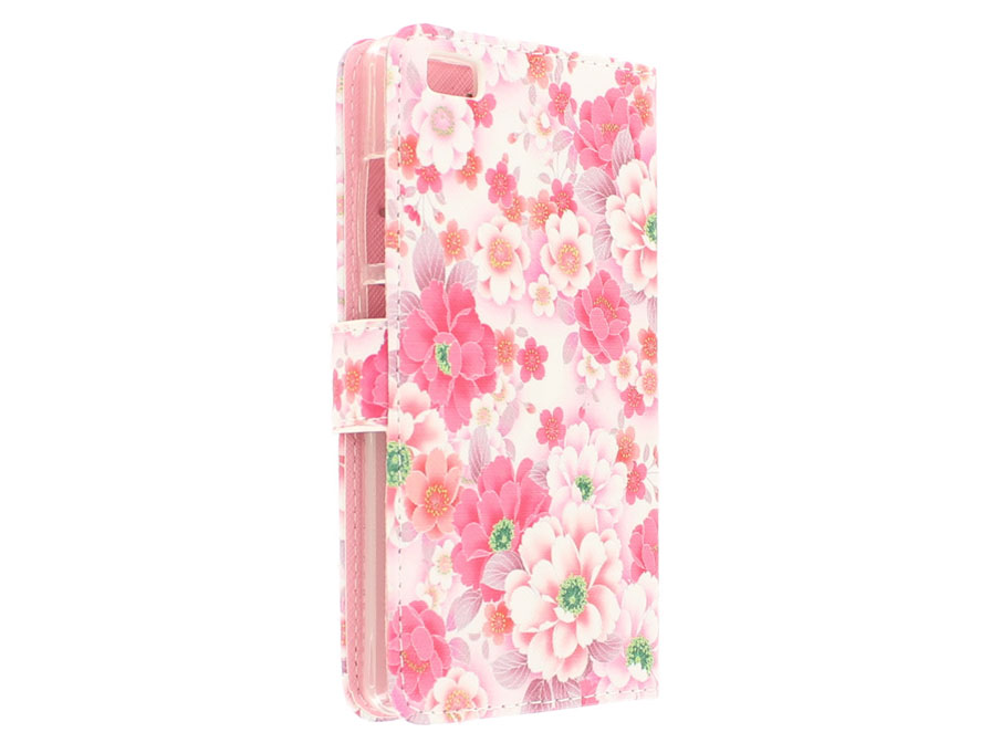 Floral Book Case Hoesje voor Huawei Ascend P8 Lite