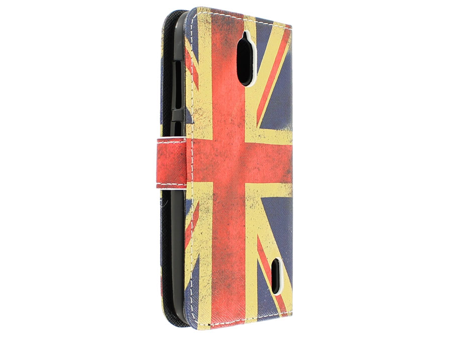 Vintage GB Flag Book Case Hoesje voor Huawei Ascend Y625