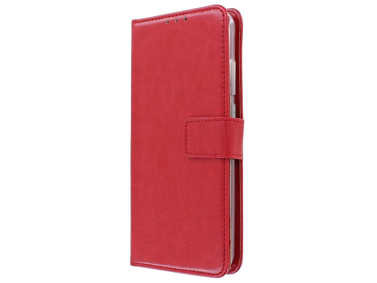 Bookcase Mapje Rood - Huawei P Smart 2020 hoesje