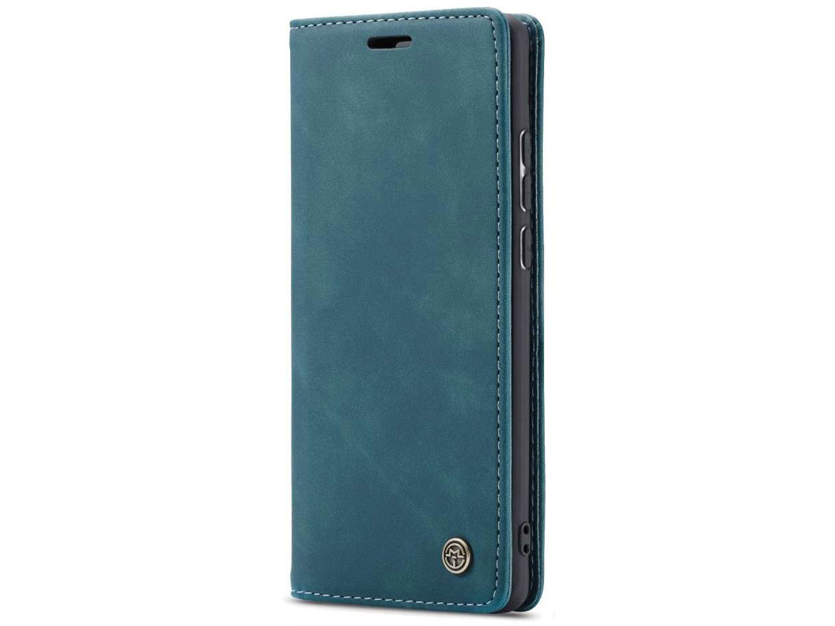 CaseMe Vintage BookCase Blauw - Huawei P30 Lite (New Edition) hoesje