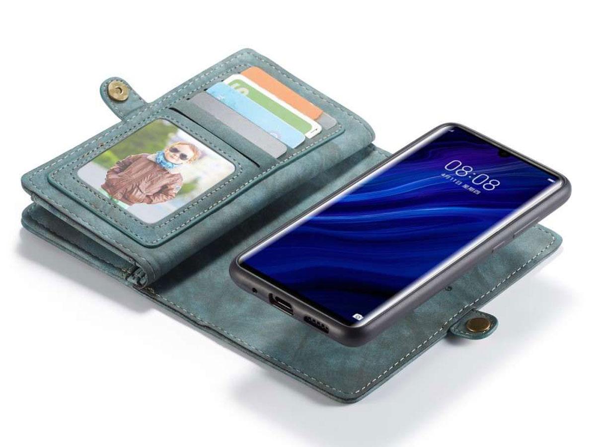 CaseMe 2in1 Wallet Ritsvak Case Blauw - Huawei P30 Pro (New Edition) Hoesje