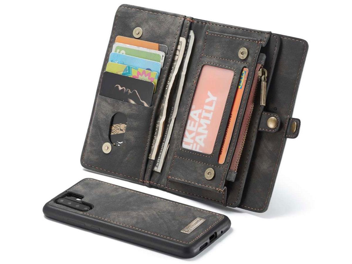 CaseMe 2in1 Wallet Ritsvak Case Zwart - Huawei P30 Pro (New Edition) Hoesje
