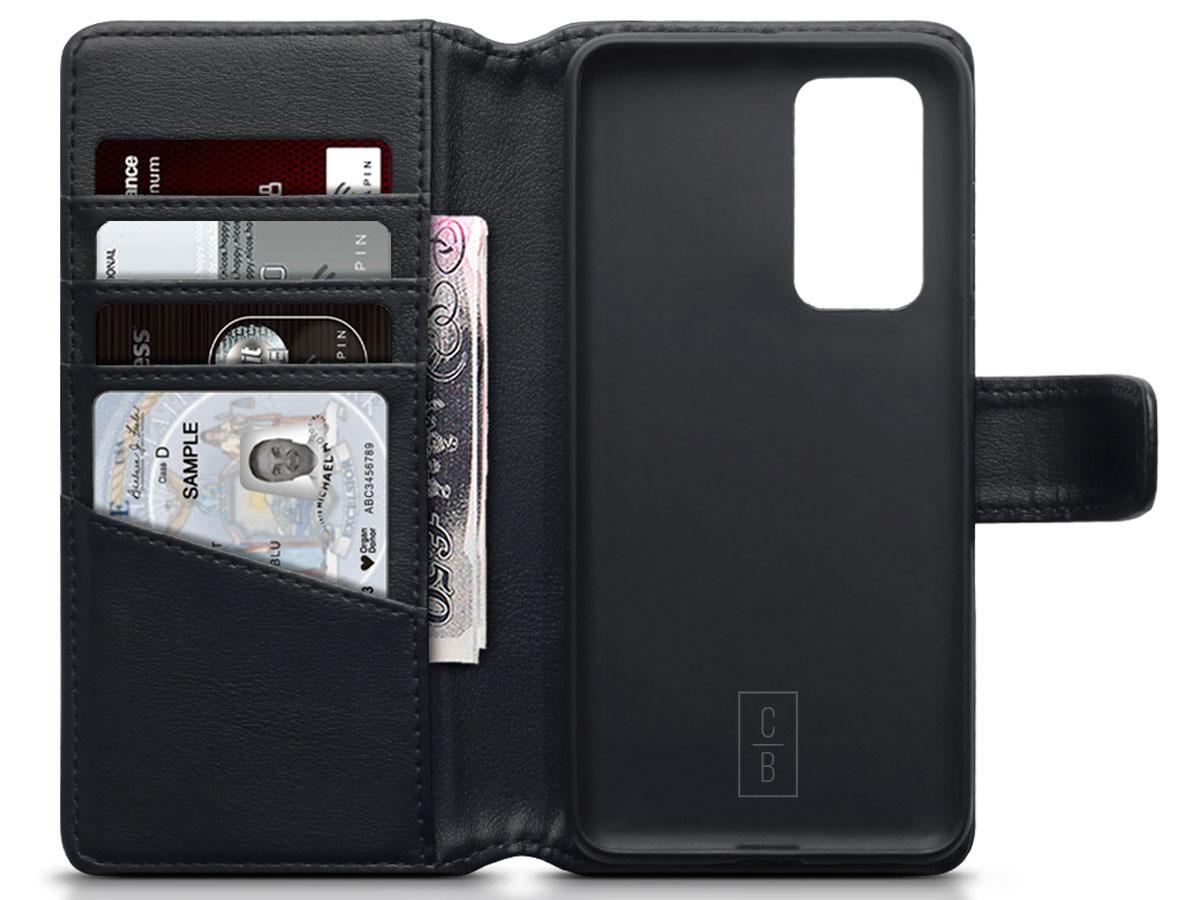 CaseBoutique Wallet Case Zwart Leer - Huawei P40 hoesje