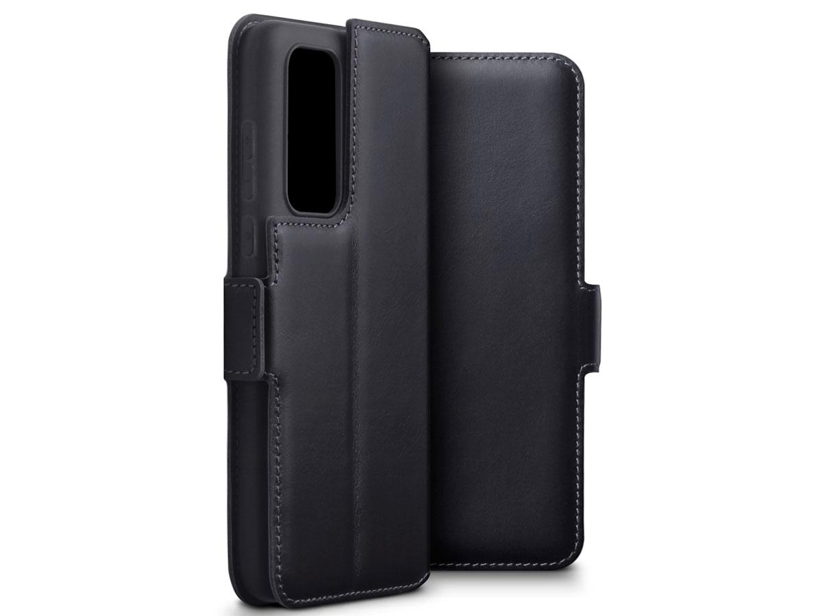CaseBoutique Slim Book Case Zwart Leer - Huawei P40 hoesje
