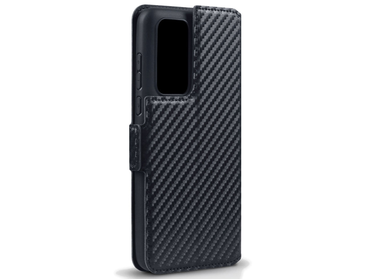 CaseBoutique Slim Book Case Carbon - Huawei P40 hoesje
