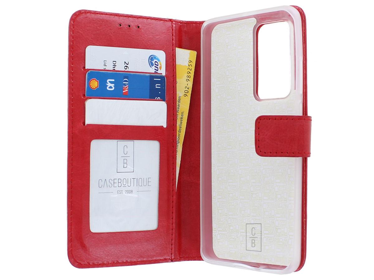 Bookcase Mapje Rood - Huawei P40 hoesje