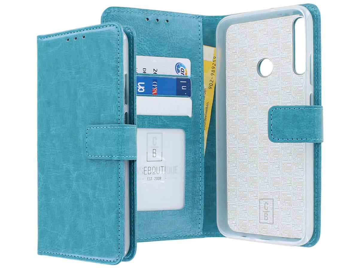 Bookcase Mapje Turquoise - Huawei P40 Lite E hoesje