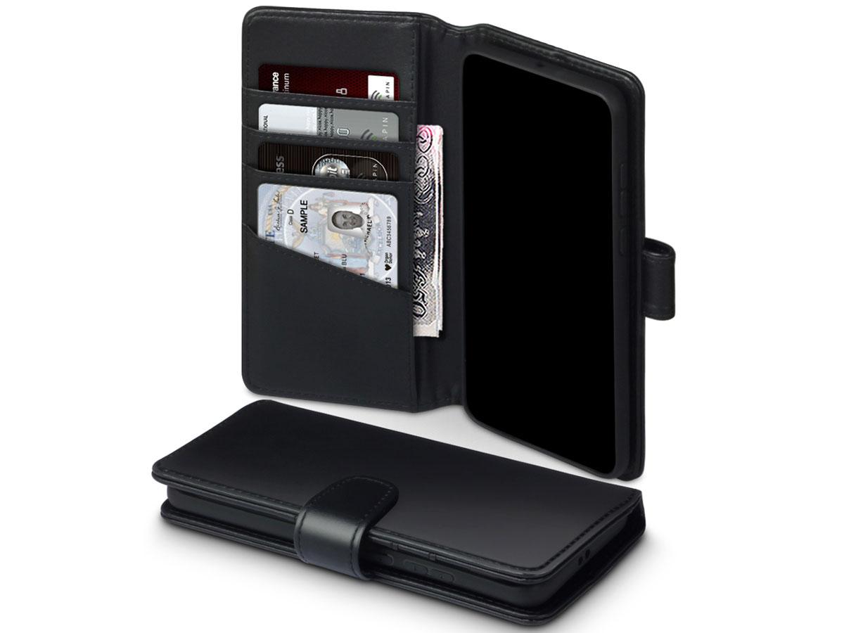 CaseBoutique Wallet Case Zwart Leer - Huawei P40 Pro hoesje