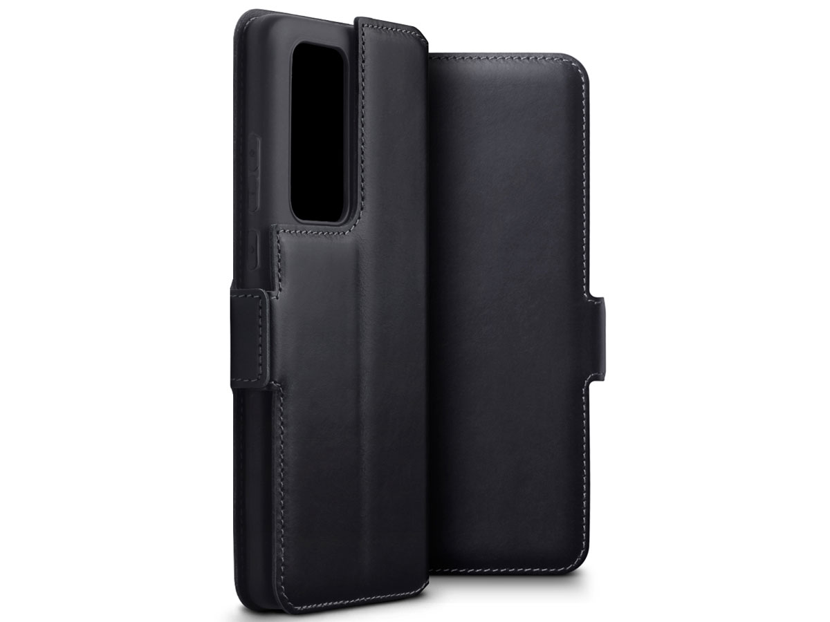 CaseBoutique Slim Book Case Zwart Leer - Huawei P40 Pro hoesje