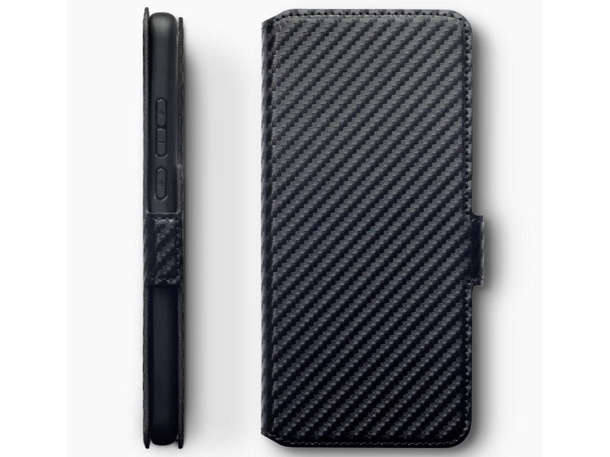 CaseBoutique Slim Book Case Carbon - Huawei P40 Pro hoesje