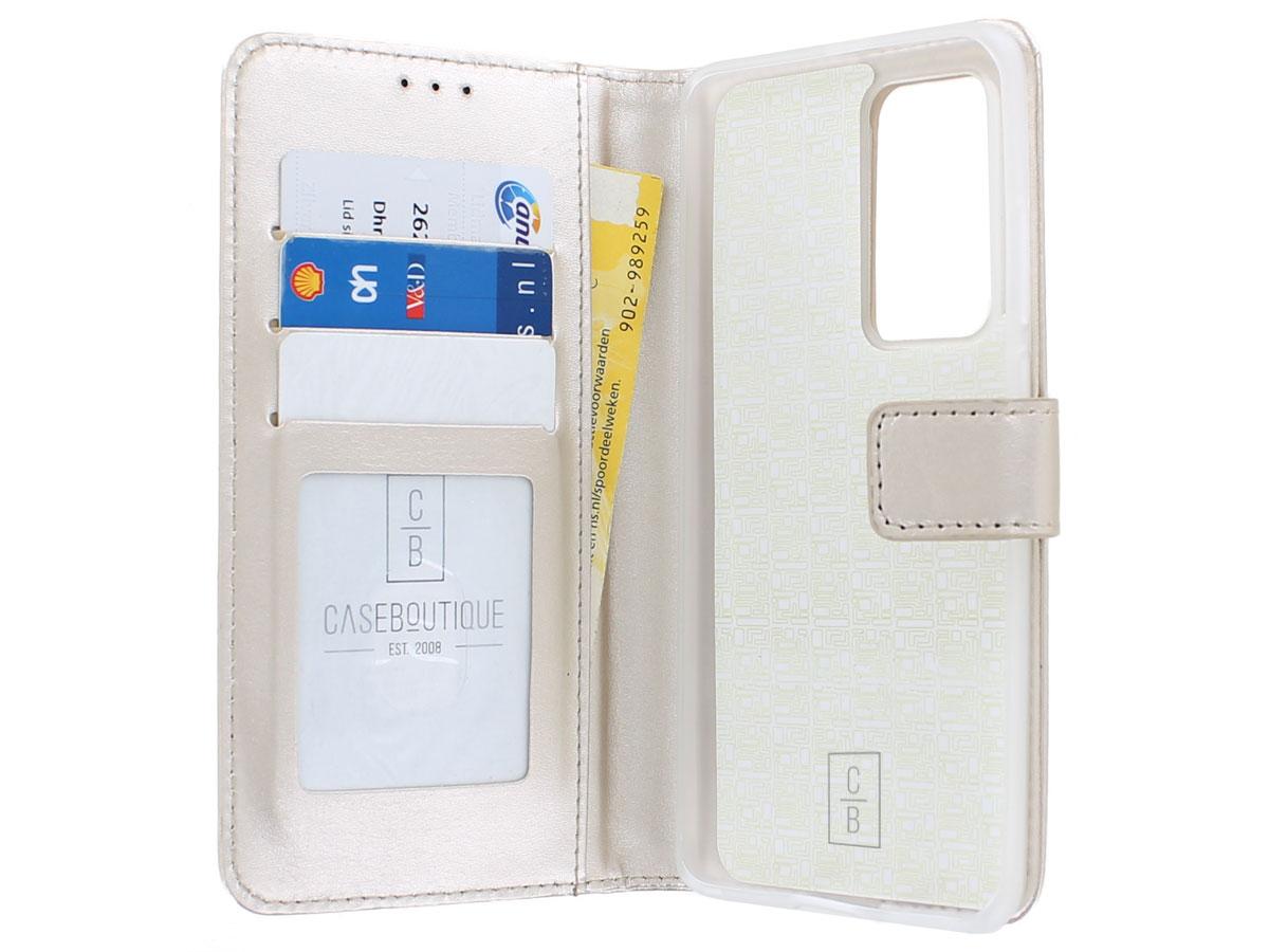 Bookcase Mapje Goud - Huawei P40 Pro hoesje
