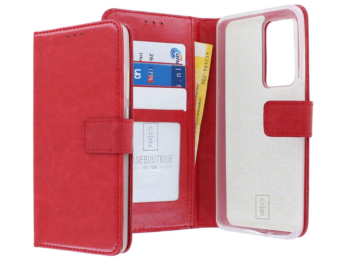 Bookcase Mapje Rood - Huawei P40 Pro hoesje