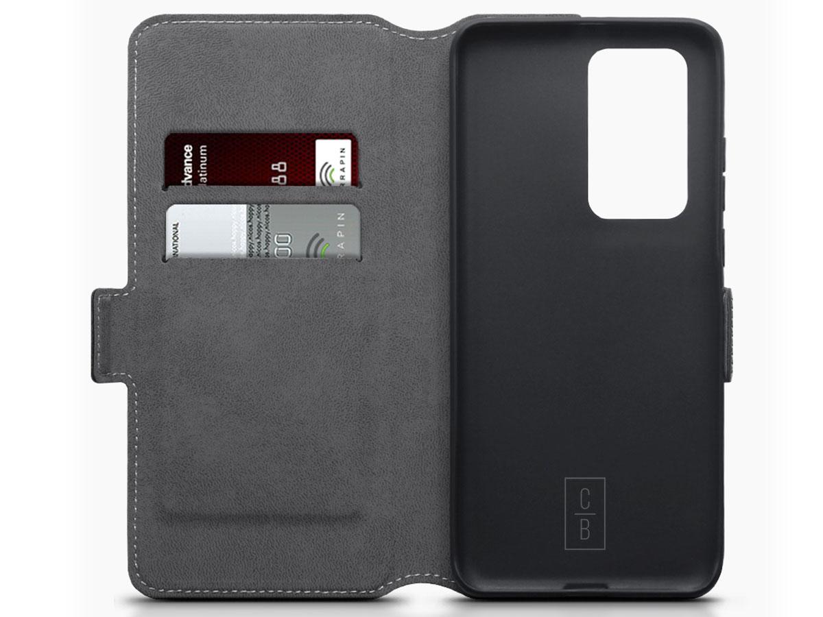 CaseBoutique Slim Book Case Zwart - Huawei P40 Pro hoesje