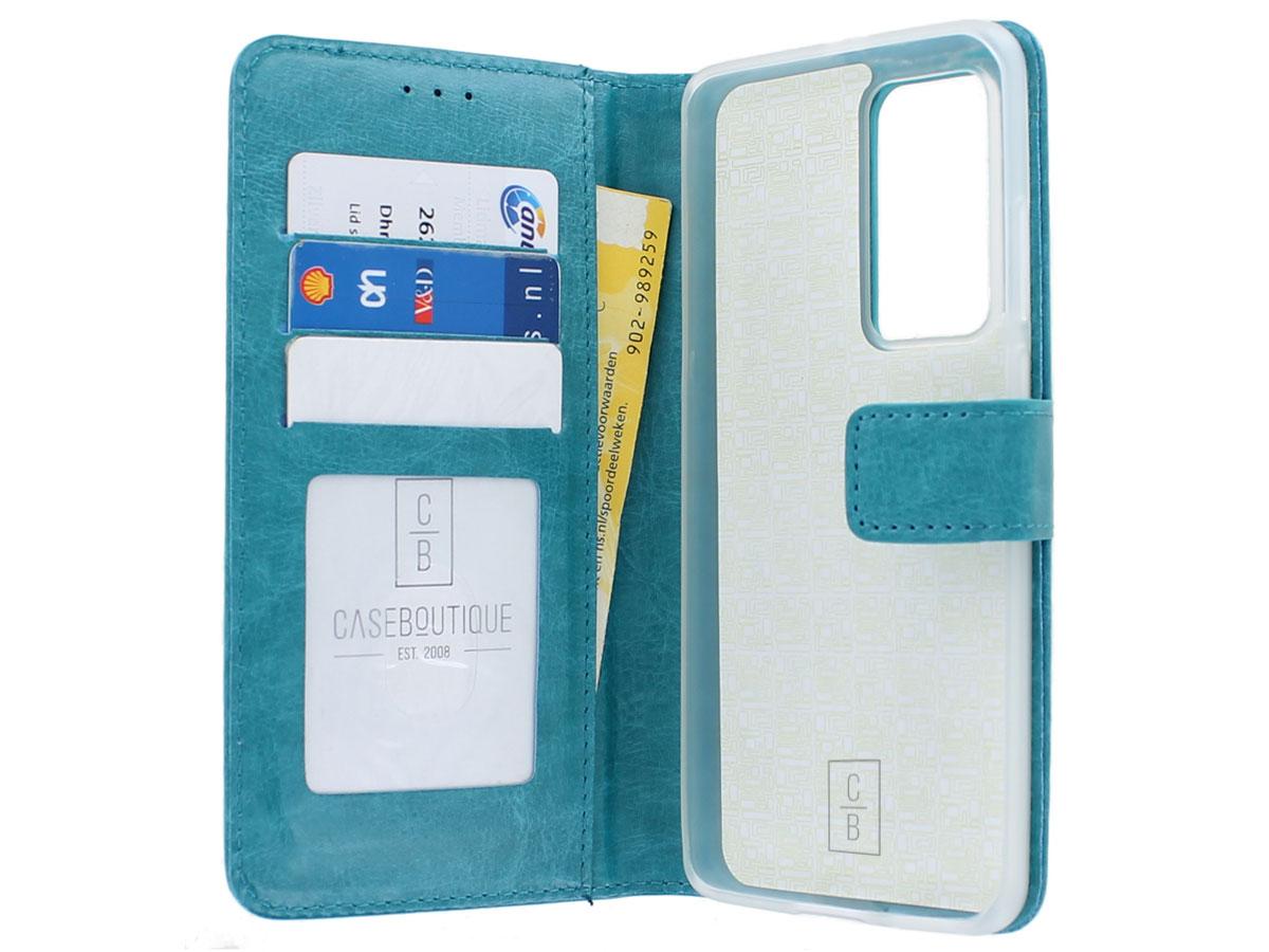 Bookcase Mapje Turquoise - Huawei P40 Pro hoesje
