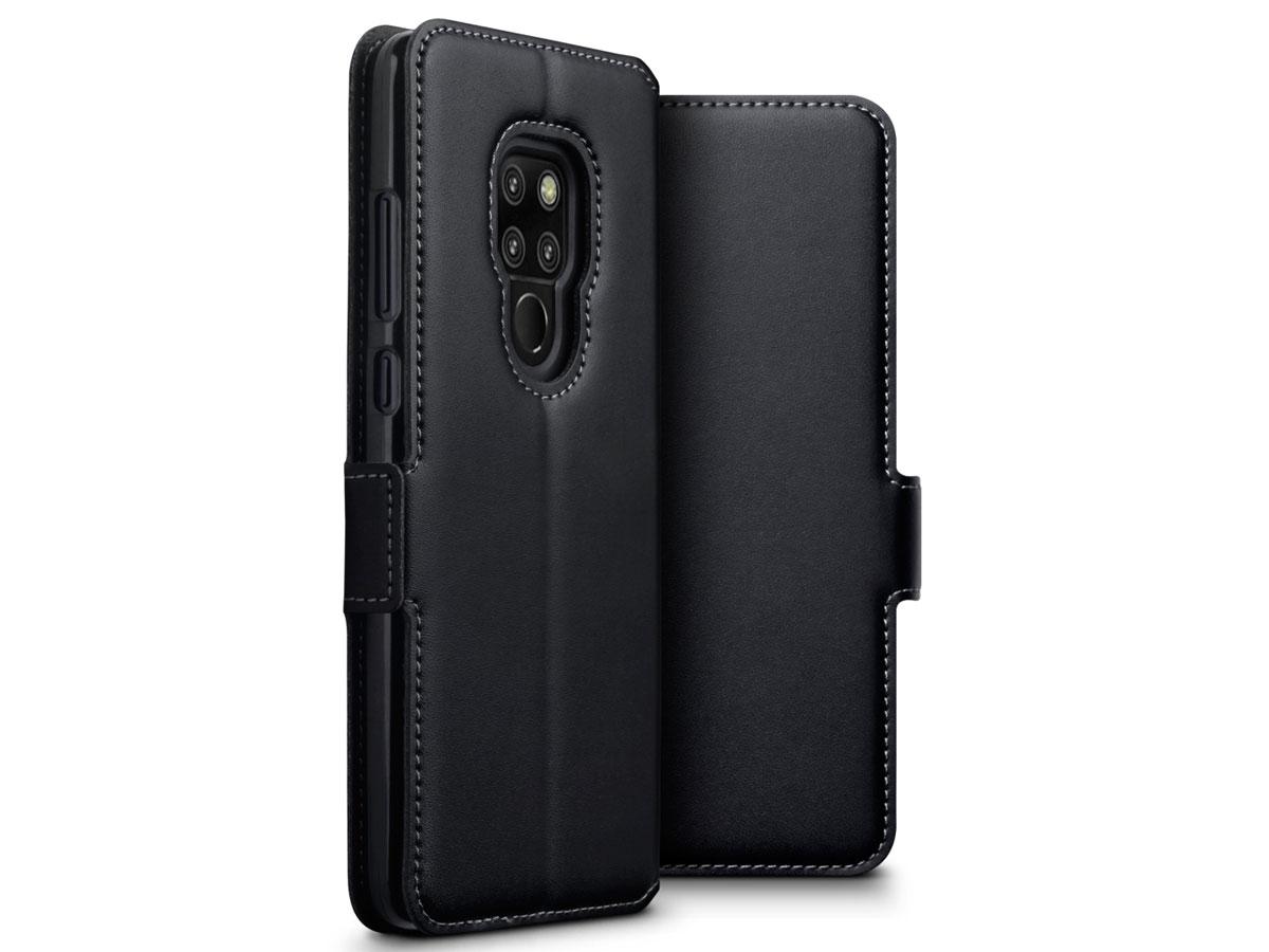 CaseBoutique Wallet Leer - Huawei Mate 20 hoesje Zwart