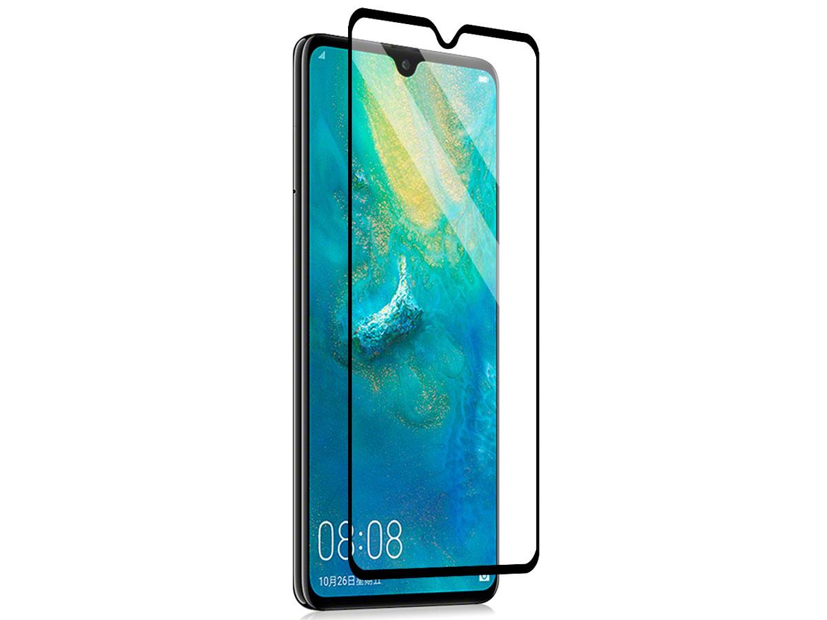 Huawei Mate 20 Screen Protector - 9H Curved Glass Zwart