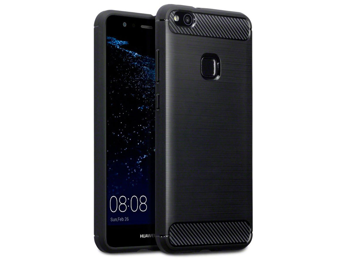 Rugged Carbon TPU Case - Huawei P10 Lite hoesje