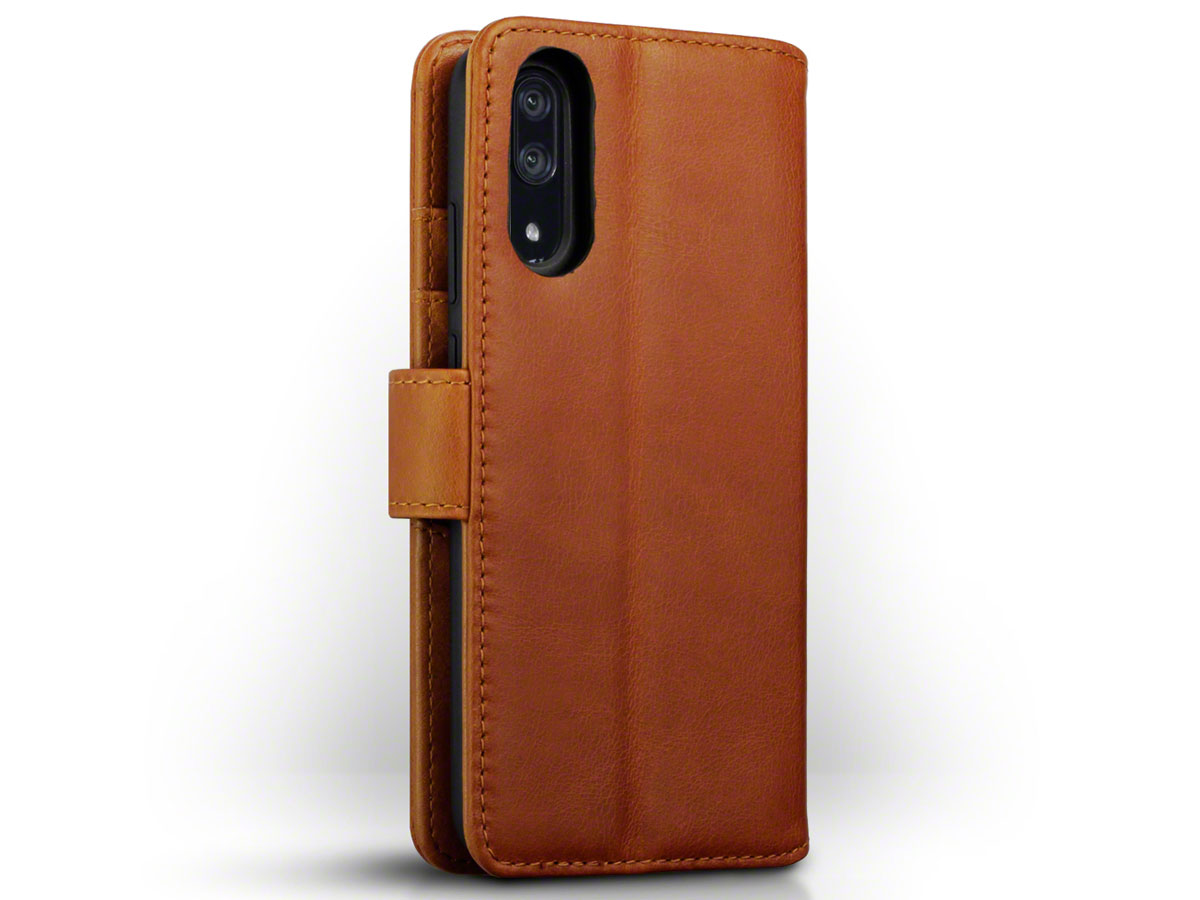 CaseBoutique Leather Case Cognac - Huawei P20 Hoesje