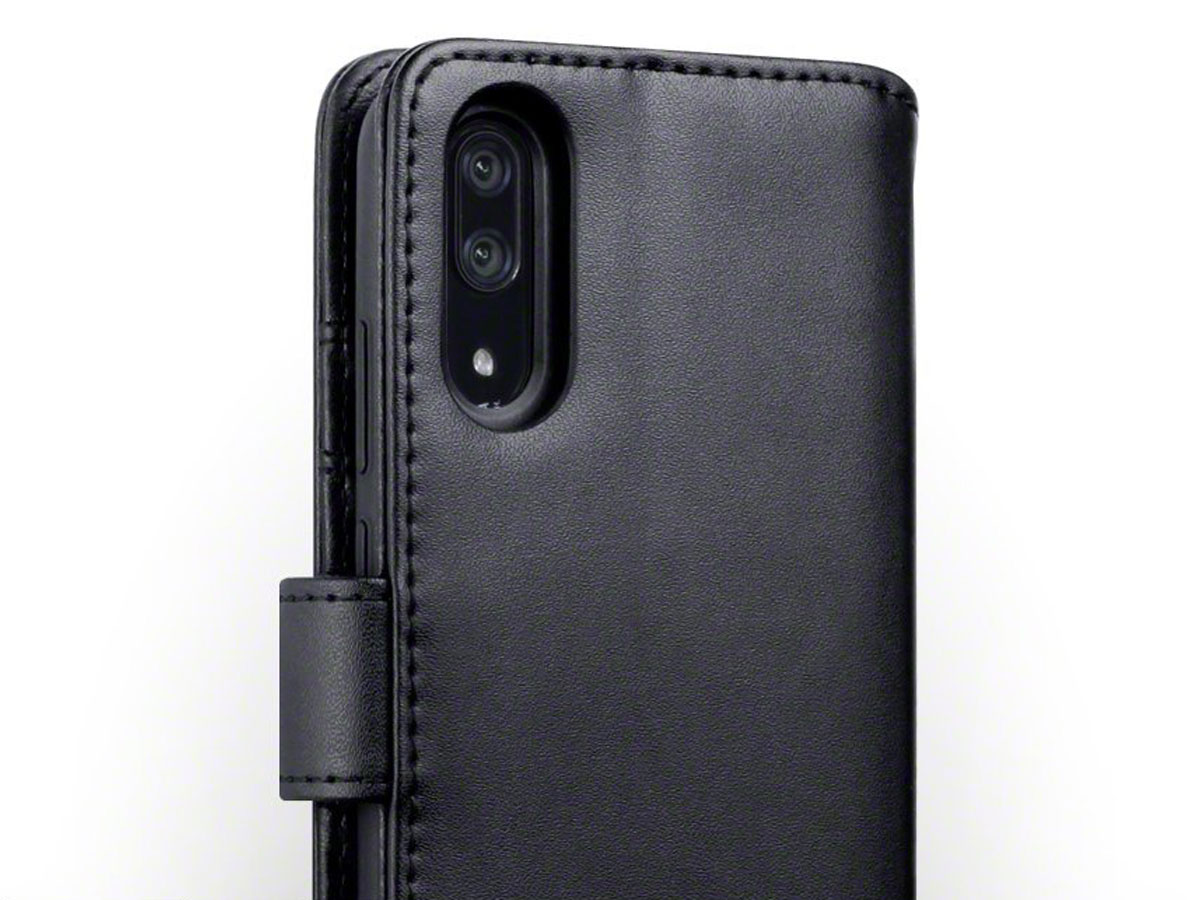 CaseBoutique Leather Case Zwart - Huawei P20 Hoesje