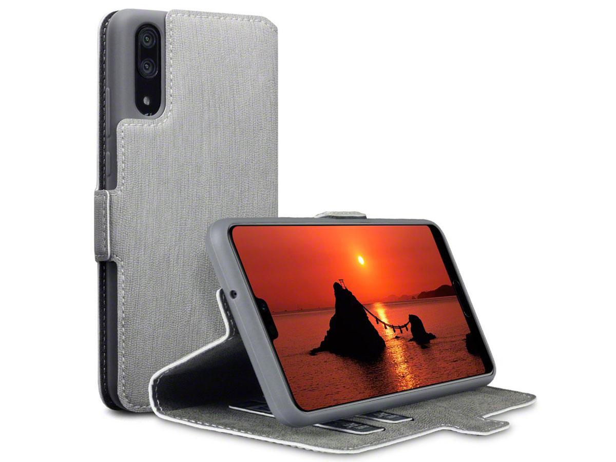 CaseBoutique UltraSlim Wallet Grijs - Huawei P20 hoesje