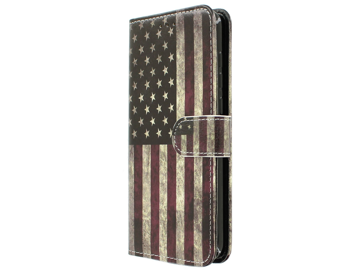 Vintage USA Bookcase - Huawei P8 Lite 2017 hoesje