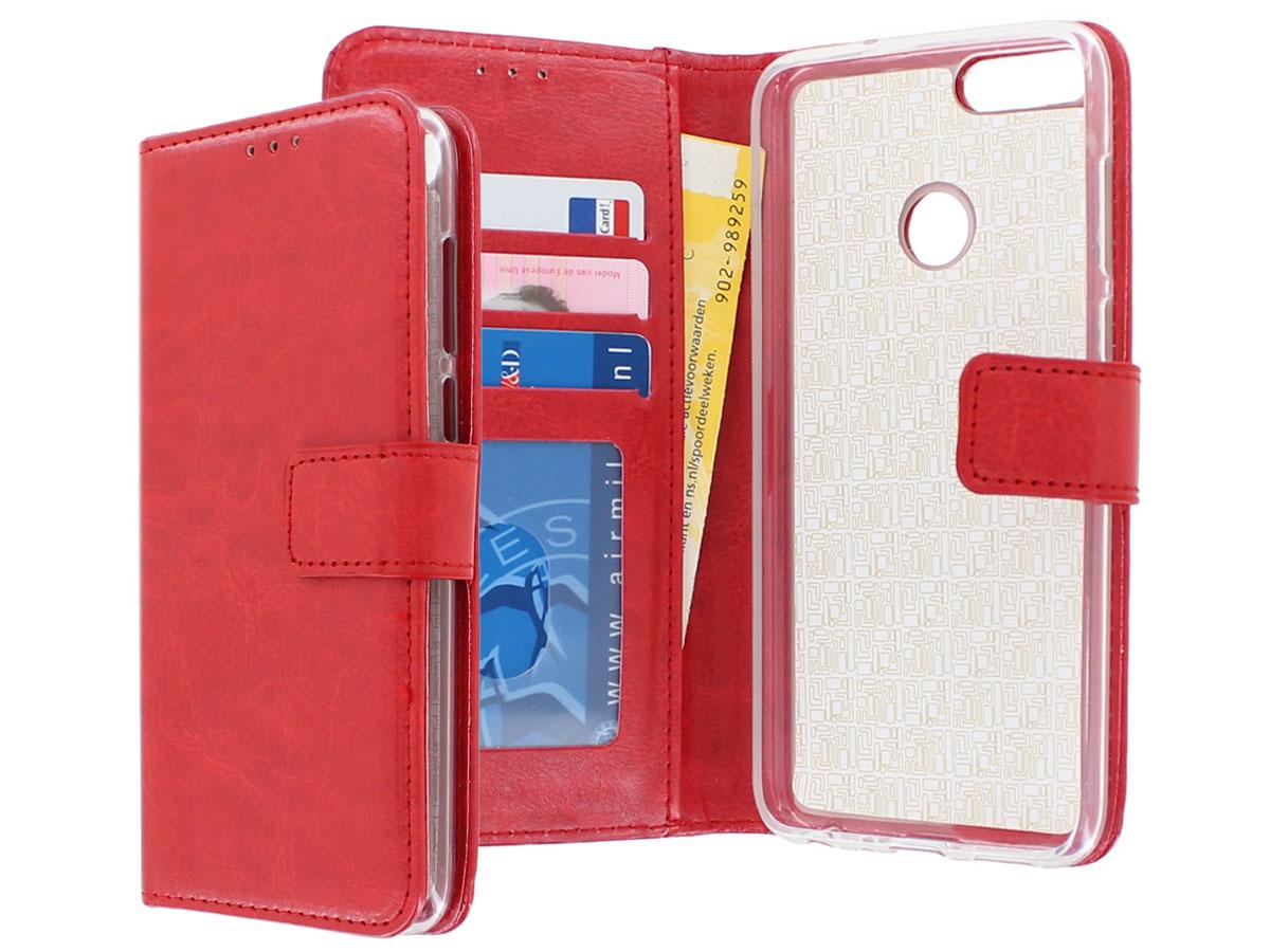 09b3a51ef4c ... Bookcase Wallet Rood - Huawei P Smart hoesje