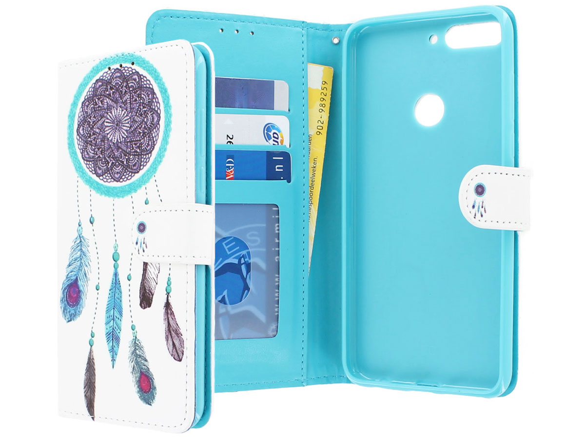 Dreamcatcher Bookcase Wallet - Huawei Y7 2018 hoesje