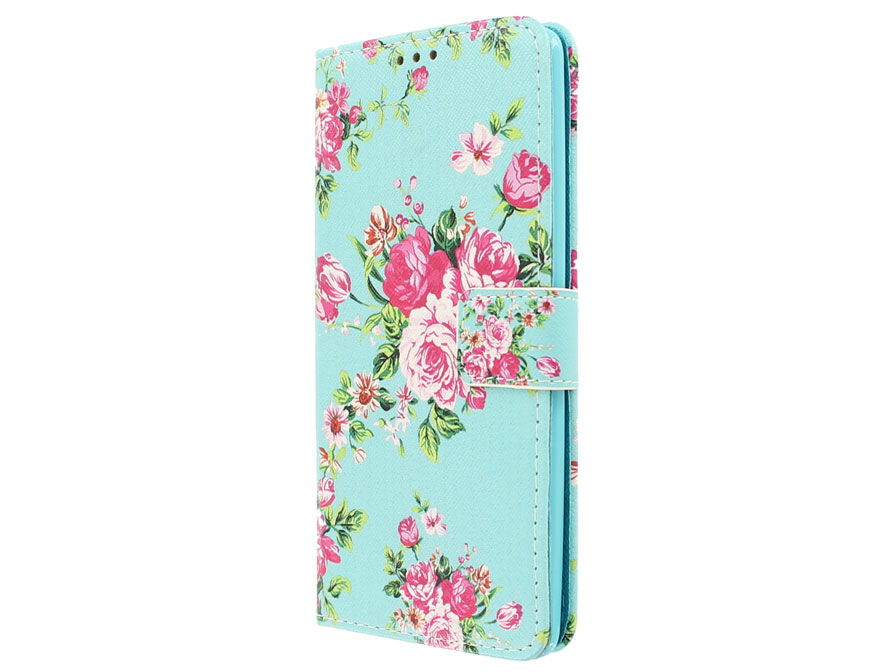 Flower Book Case - Huawei Mate S hoesje
