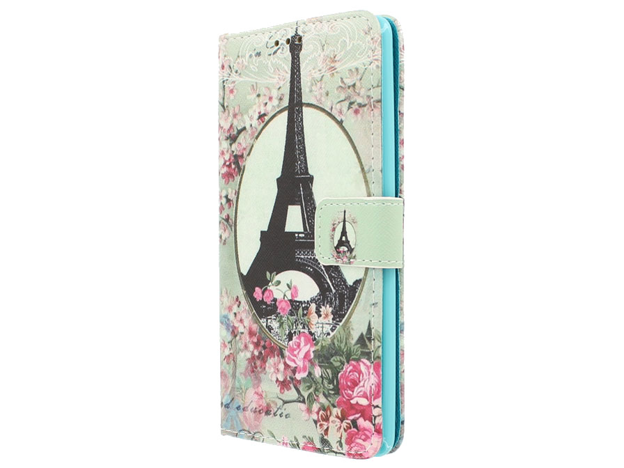 Retro Paris Book Case - Huawei Mate S hoesje