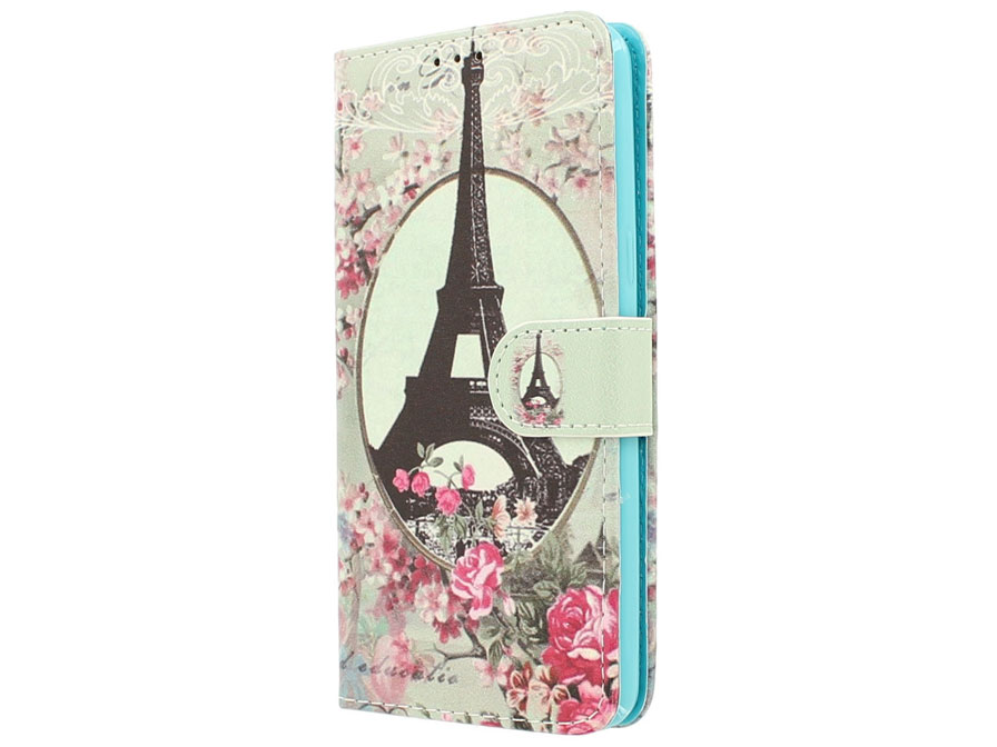 Retro Paris Bookcase - Huawei P8 Lite Smart/GR3 hoesje