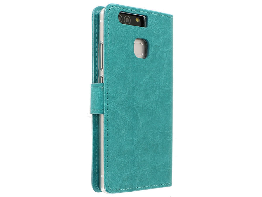 Turquoise Bookcase - Huawei P9 hoesje
