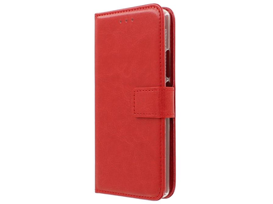 Étui En Cuir Rouge Pour Tpu P9 Huawei, Plus