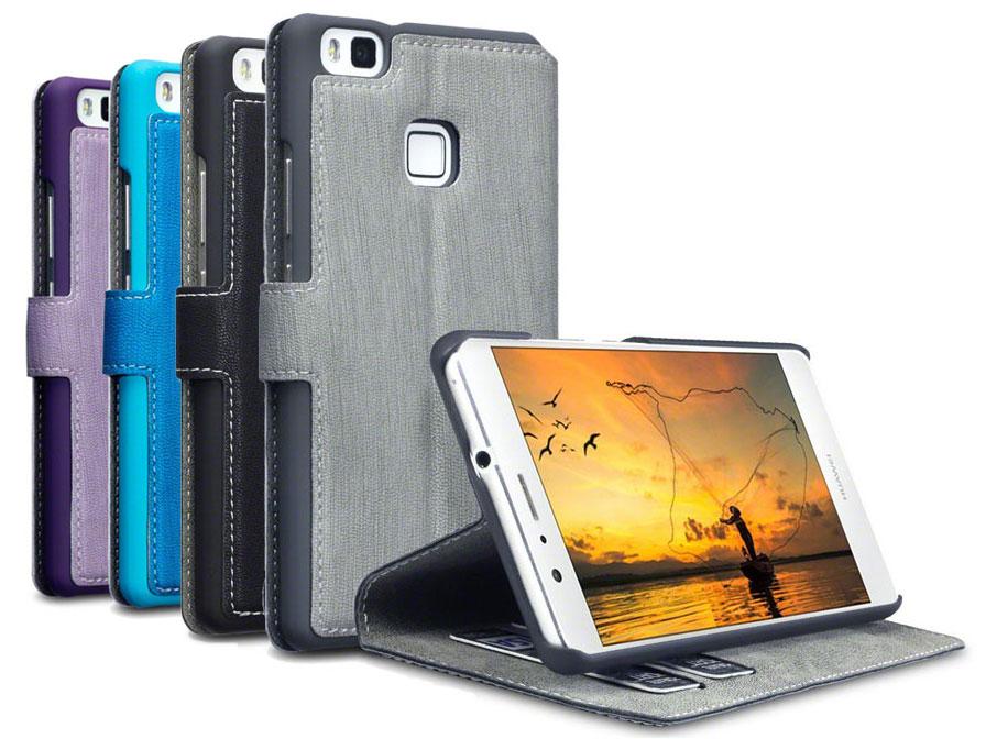 Covert Ultraslim Bookcase - Huawei P9 Lite hoesje Paars