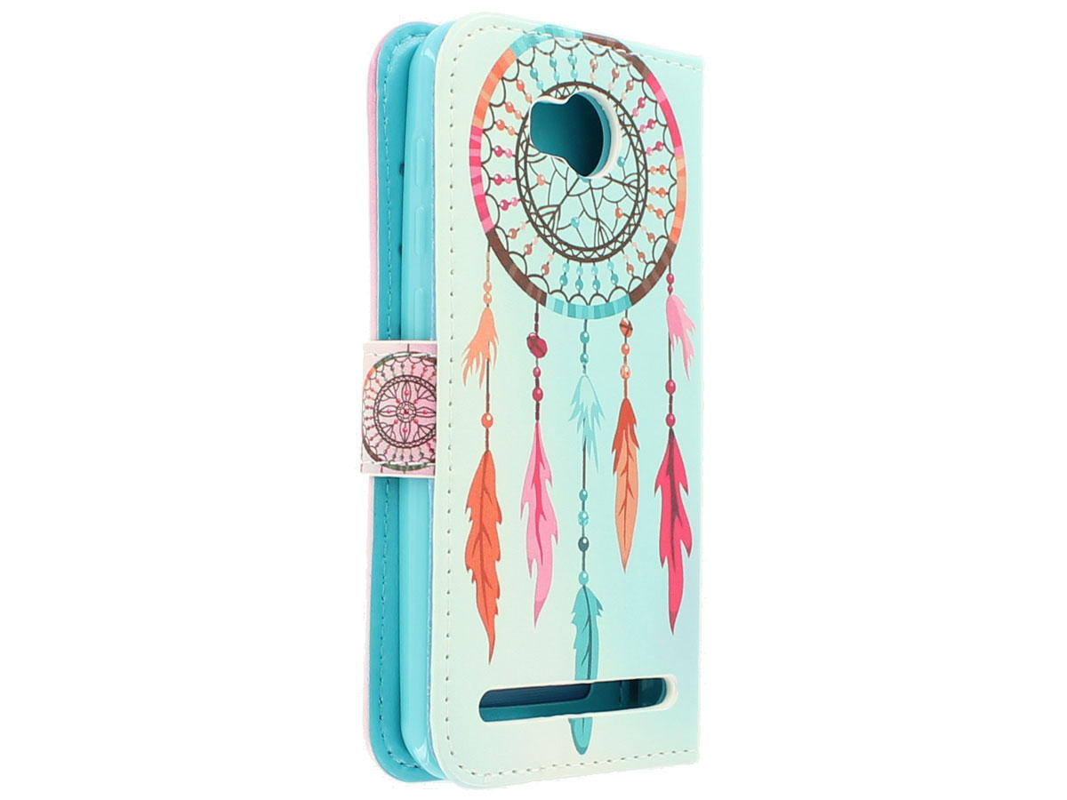 Color Dreamcatcher Bookcase - Huawei Y3 II (Pro) hoesje